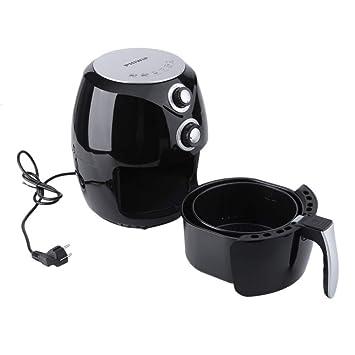 2,6 L Freidora De Aire De Potencia De Gran Capacidad Sin Aceite, Electrodomésticos De Cocina 1400W (Negro): Amazon.es: Hogar