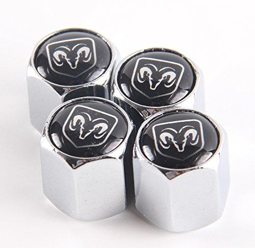 Dodge T 4 Cover (Valve Caps Prevent Corrosion,Chrome copper Tire Stem Official, Car Dust Cover, Wheel Tire Air Caps Valve Stem Cover Car/Motorcycle (4 Pcs/Set) for Dodge Charger Challenger Dart R/T)