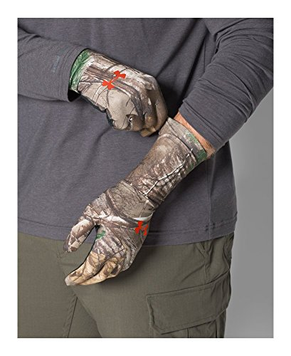 Under Armour Men's ColdGear Camo Liner Gloves, Realtree Ap-Xtra/Dynamite, Medium by Under Armour (Image #2)