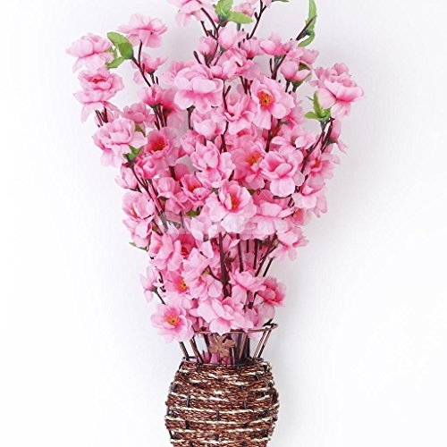 (Artificial Spring Peach Blossom Cherry Plum Bouquet Branch Silk Flower)