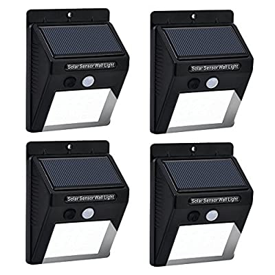 Outdoor LED Motion Sensor Solar Light with 20 Bright Nodes,Solar Powered ,Waterproof and Heatproof ,Suitable for Outdoor Wall ,Pathway, Security,Garden,Decking and Patio, etc.