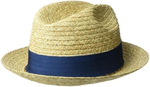 Bailey of Hollywood Mens Romeo Braided Straw Fedora Trilby Hat