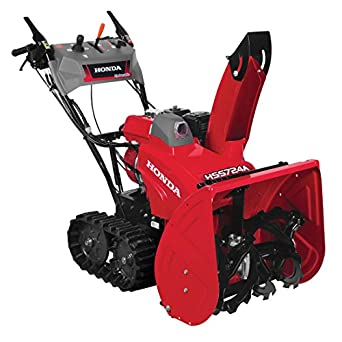 "Honda Power Equipment HSS724AATD 7HP 24"" Two Stage Track Drive Snow Blower, Electric Start"
