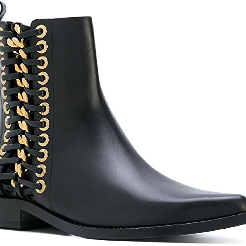 Alexander McQueen Women's Black Calf Leather Ankle Boots - Booties Shoes - Size: 7.5 US