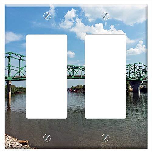 Switch Plate Double Rocker/GFCI - West Virginia Bridge Point Pleasant River Water
