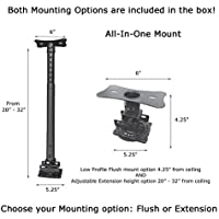 Visual Apex AV819-A All-in-one Universal Projector Ceiling Mount