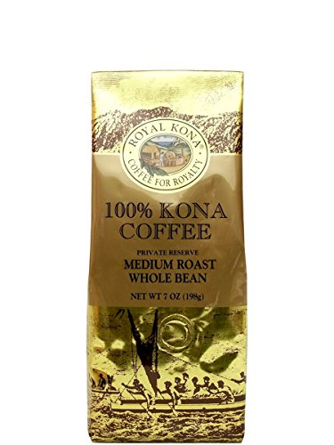 Royal Kona - Private Reserve Medium Roast - 100% Kona Coffee - Whole Bean - 7 oz Bag
