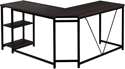 L-Shaped Office Desk Workstation Computer Desk Corner Desk Home Office Wood Laptop Table Study Desk