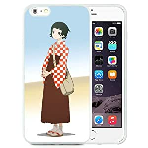 Popular And Unique Designed Cover Case For iPhone 6 Plus 5.5 Inch TPU With Farewell Bleak Sensei Tsunetsuki Matoi Girl Pose Bag white Phone Case BY supermalls