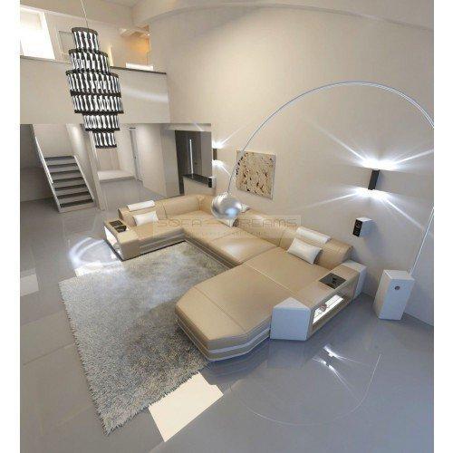 Conjunto de Muebles Para Salón Presto forma de U Beis Arena ...