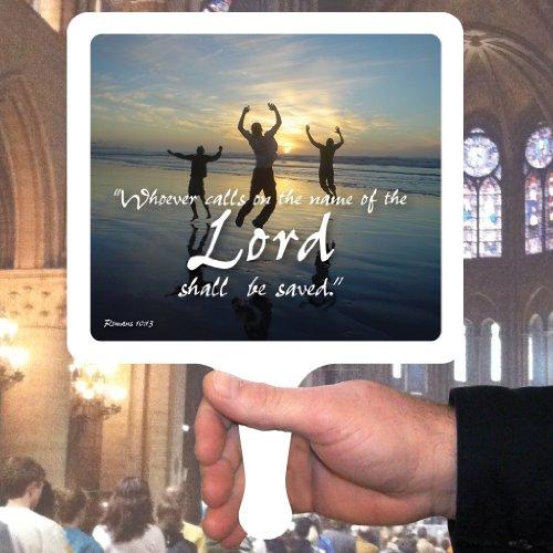 Church Fans - Set/12 Hand Held Fans Romans 10:13 ()