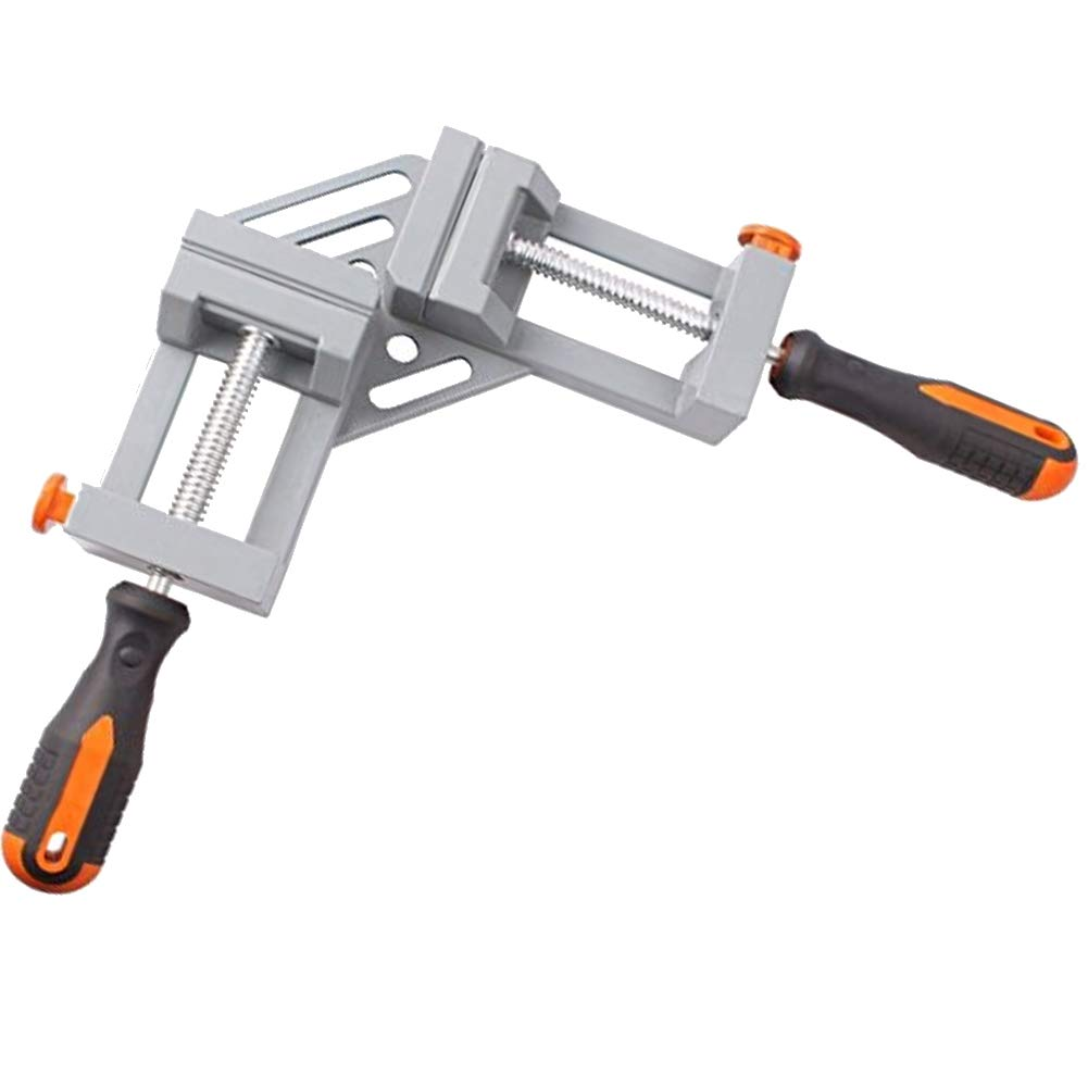 YAOBAO Double Handle Corner Clamp Right Angle,90 Degree Corner Clamp,Adjustable Bench Vise Tool for Welding, Wood-Working, Engineering, Photo Framing