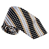 T8508 Brown Black Striped Woven Silk Tie Fantastic Beautiful Box Set By Y&G