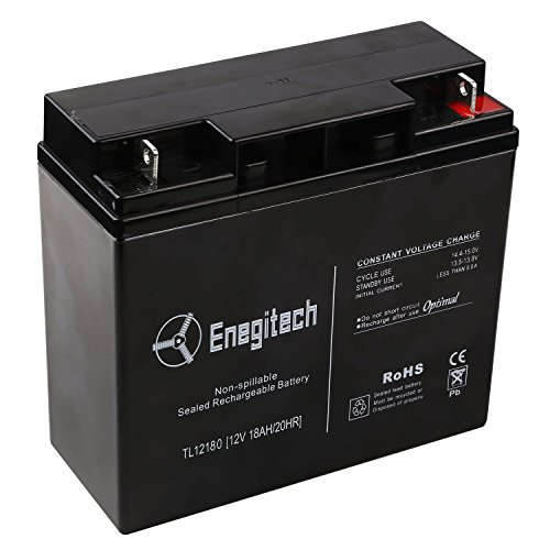 Enegitech 12 V 18 Ah 20HR Sealed Lead Acid Rechargeable Battery Replacement for MK Battery ES17-12, ES 17-12 - 2 Pack (12v 12ah 20hr Battery compare prices)