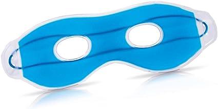 Máscara de ojos con gel azul, aprox. 24 cm: Amazon.es: Belleza