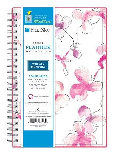 Blue Sky 2018 Weekly & Monthly Planner, Twin-Wire Binding, 5