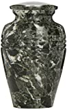 Star Legacy's Classic Ebony Grain Small Marble Vase Adult Funeral Cremation Urn Keepsake for Human Ashes