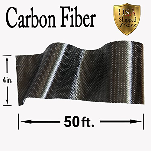 CARBON FIBER - 12K TOW - 50 ft. x 4'' in. - High Strength Fabric by CARBON FIBER