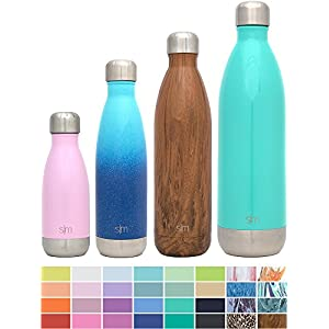 Simple Modern 34oz Wave Water Bottle - Vacuum Insulated Double Wall 18/8 Stainless Steel 1 Liter Hydro Swell Flask - Oasis