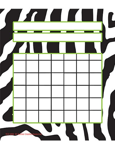 Teacher Created Resources Zebra Incentive Charts (5400) (Sti Race)