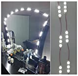 60 Leds 9.8 FT Makeup Vanity Mirror Light DIY Light Kits for Cosmetic Makeup Vanity Mirror Storefront Lights Window Lights Indoor/Outdoor Decoration Lighting with Dimmer and Adapter