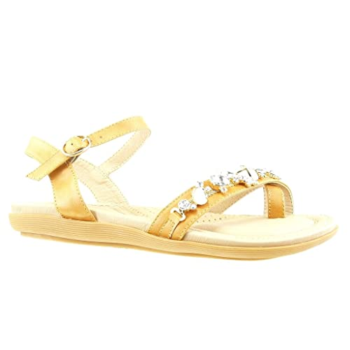 Cm Femme 2 Diamant Mode Chaussure Bijoux Strass Angkorly Plat Tong Sandale Talon OP8nwX0k