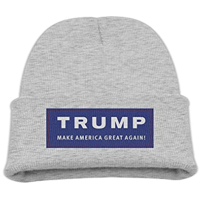 Donald Trump The Campaign Make America Great Again Cute Knit Cap Cool Crochet Slouchy Beanie Ash Kids