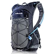 Vibrelli Hydration Pack & 2L Hydration Water Bladder – High Flow Bite Valve – Hydration Backpack with Storage…
