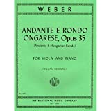 Weber - Andante and Rondo Ongarese Op. 35. For Viola and Piano. by Primrose. by International