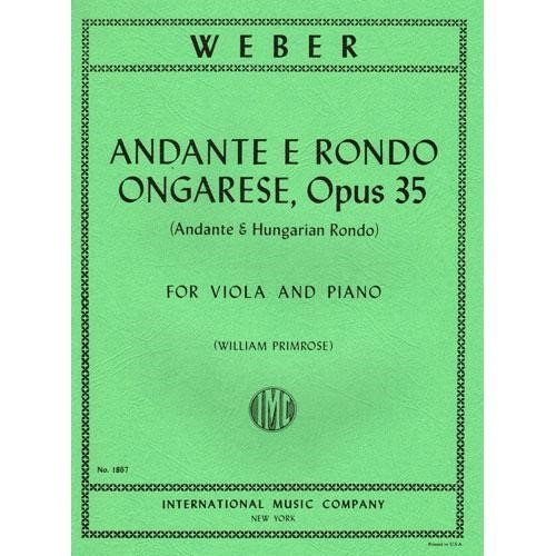 Primrose Viola (Weber - Andante and Rondo Ongarese Op. 35. For Viola and Piano. by Primrose. by International)