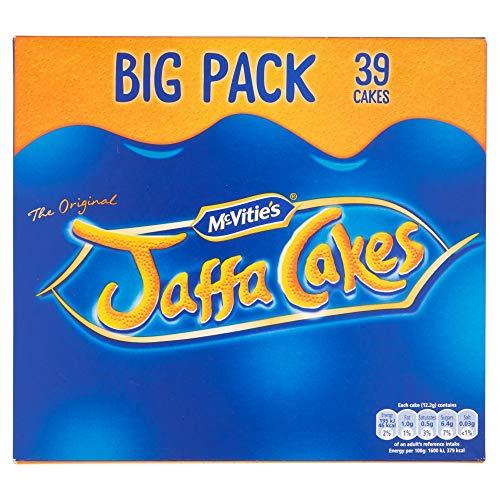 Original McVitie's Jaffa Cakes Big Pack Imported From The UK England The Very Best Original British Jaffa Cakes A Genoise Sponge Base Layer Of Orange Flavored Jam Coating Of Sponge (Cakes Christmas Jaffa)