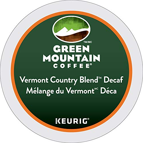 (Green Mountain Coffee Vermont Country Blend Decaf, K-Cup Portion Pack for Keurig Brewers 24-Count)
