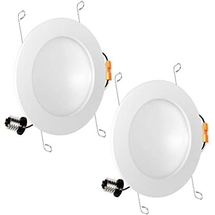 best website 889ec f388e Luxrite 6 Inch LED Indirect Downlight Fixture, 15W (100W Equivalent), 5000K  Bright White, 1050 Lumens, Dimmable, Recessed Can Light, Damp Rated, CRI ...