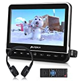 PUMPKIN 10.1' Car Headrest DVD Player with Free Headphone, Support 1080P Video, HDMI Input, AV in/Out, Region Free, USB/SD