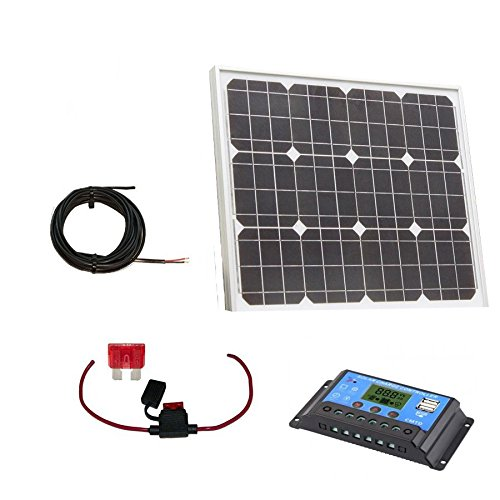 PK Green 40W Solar Panel Kit with 10A Controller for Caravan, Camping, Motorhome, Boat, Shed