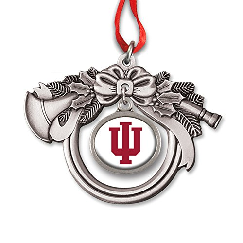 Indiana University Block IU French Horn Charm Ornament IUOR2351 IMC-Retail