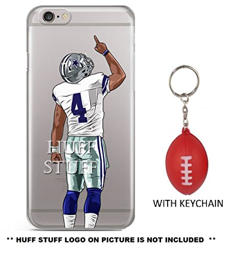 dak-prescott-plus-mini-football-keychain-iphone-case-ultra-slim-transparent-tpu-soft-silicone-plasti