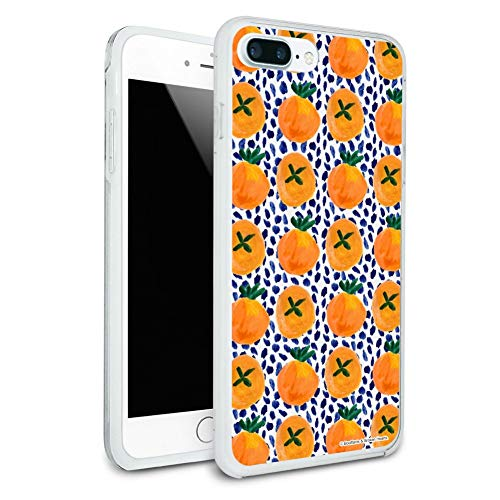 Citrus and Blue Dots Protective Slim Fit Hybrid Rubber Bumper Case for Apple iPhone 7 Plus