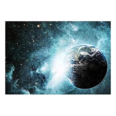 Quality Creation, Unbelievable Piece, Earth Surrounded by Shades of Blue Galaxies Wall Mural