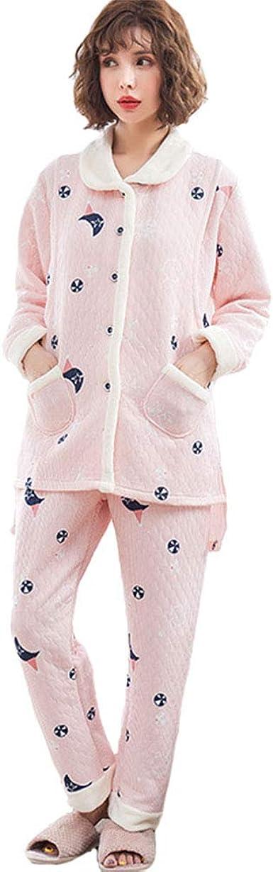 DAZISEN Conjunto de Pijama de Lactancia para Mujer - Cálida ...