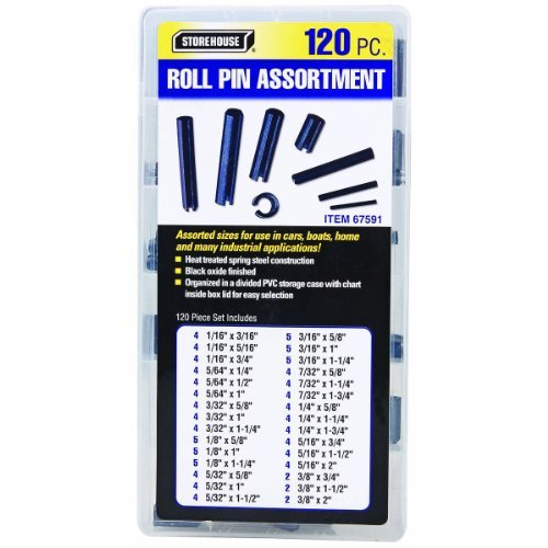 Harbor Freight Tools Roll Pin Assortment, 120 Pc. Storehouse