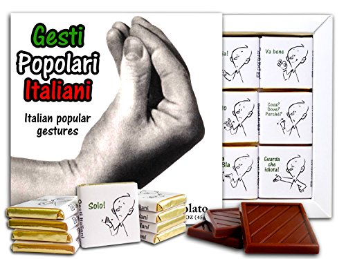 DA CHOCOLATE Candy Souvenir POPULAR ITALIAN GESTURES Chocolate Gift Set 5x5in 1 box (Hand Prime)