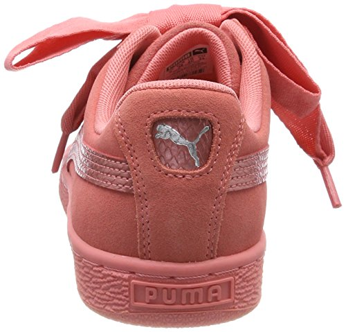 shell Sneakers Basses Jr Suede Fille Heart Pink Snk shell Puma Rose Pink wtX8IqX