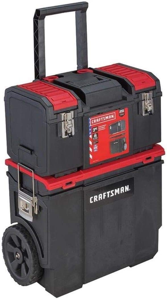 CRAFTSMAN DIY Wheeled Lockable Tool Organizer with Detachable Tool Box
