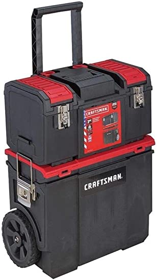 Craftsman DIY organizador de herramientas con ruedas con caja de ...