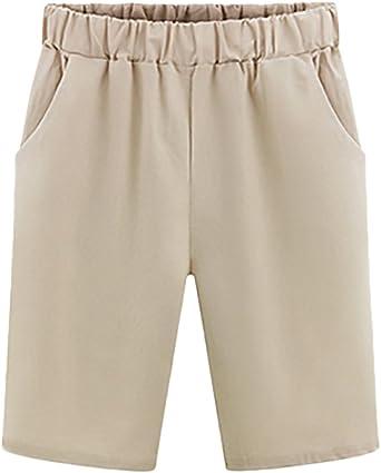 Bermudas Mujer Verano Moda Color Sólido Casual Anchos Cintura ...