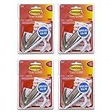 Command Large Hooks Value Pack, 12-Hooks (8-White, 4-Brushed Nickel)