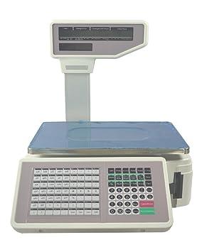 Nuevo comercial Digital Precio Computación escala 55 libras con impresora de etiquetas (110 V) (tema # 024101): Amazon.es: Hogar