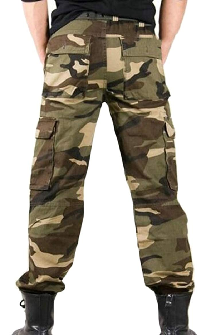 pujingge Mens Multi-Pockets Pants Tactical Outdoor Military Army Cargo Pants