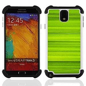 - Simple Green Pattern 40/ H??brido 3in1 Deluxe Impreso duro Soft Alto Impacto caja de la armadura Defender - SHIMIN CAO - For Samsung Galaxy Note3 N9000 N9008V N9009